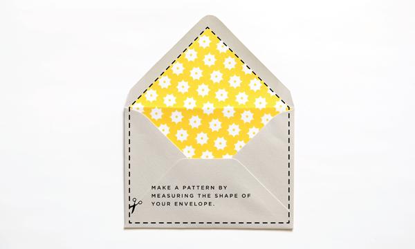 Printables: DIY envelope liners - Brooklyn Bride - Modern Wedding Blog
