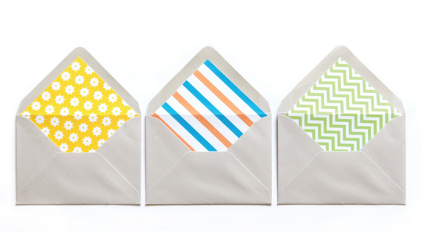 Printables: DIY envelope liners 4