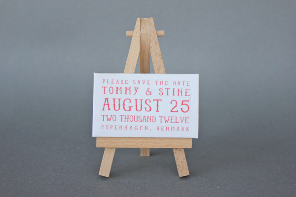 DIY: Mini Canvas and Easel save the dates! 2