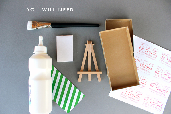 DIY: Mini Canvas and Easel save the dates! 3