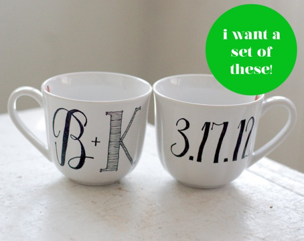 Monogrammed mugs from Wandersketch 7