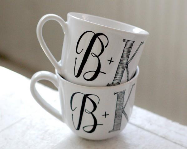 Monogrammed mugs from Wandersketch 8