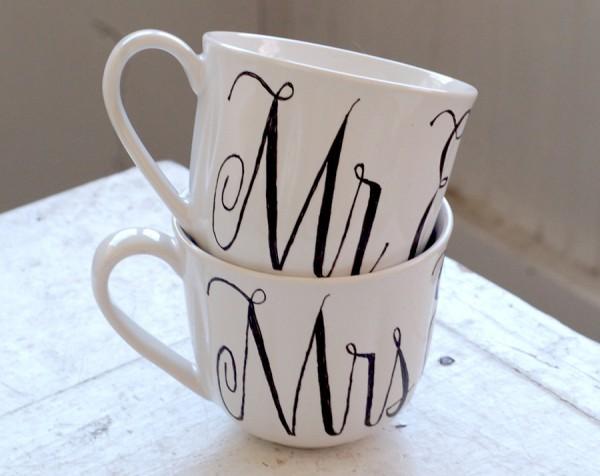 Monogrammed mugs from Wandersketch 9