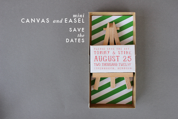 DIY: Mini Canvas and Easel save the dates! 1
