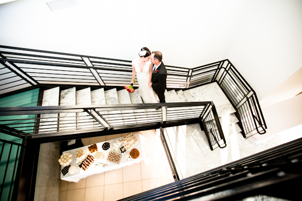 bridal portrait on staircase