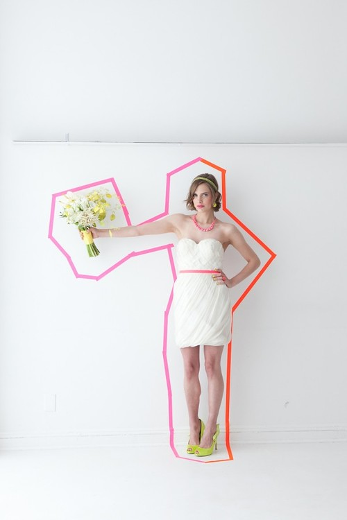 washi tape neon bride