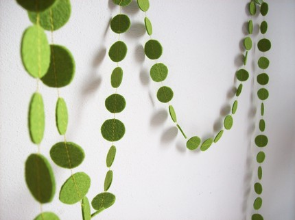 green felt garland