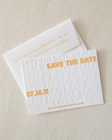 yellow and white modern wedding invitation