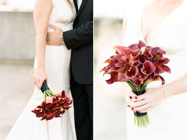red calla lily bouquet
