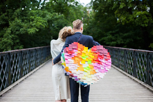 DIY: How to make a post-it heart pinata 13