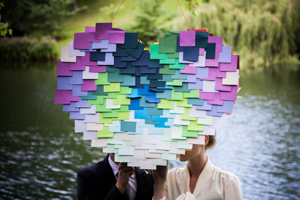 DIY: How to make a post-it heart pinata 1