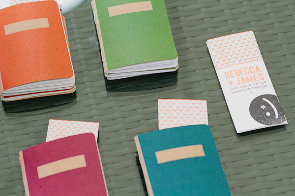 wedding favor notebooks