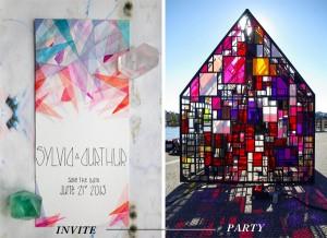 brooklyn bride translucent geometrics
