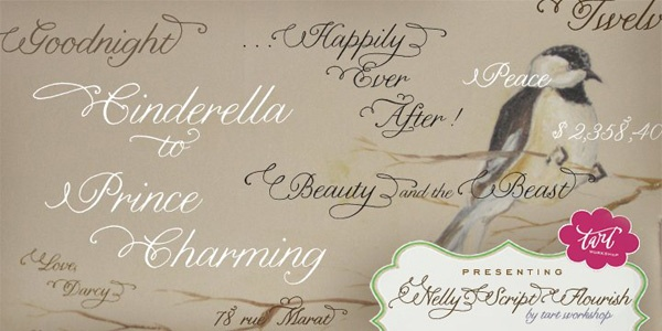 nelly calligraphy font