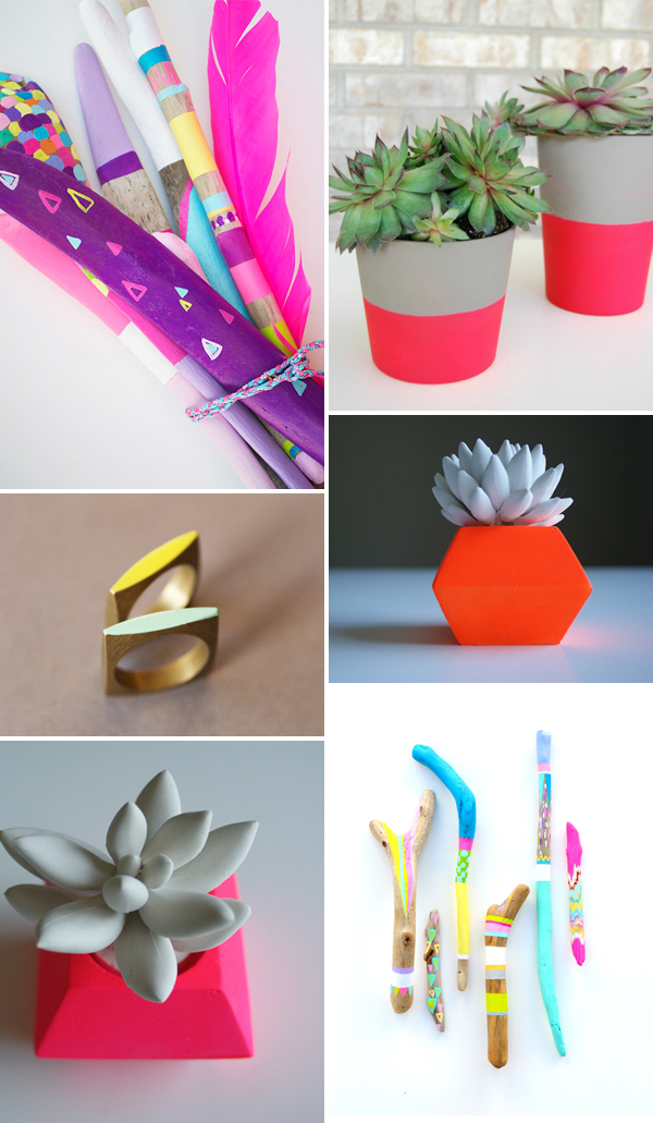 Guest post: Neon geometric inspiration from The Knotty Bride 1