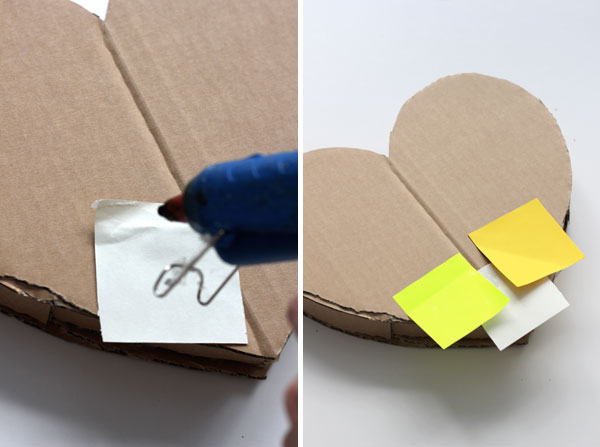 DIY: How to make a post-it heart pinata 7