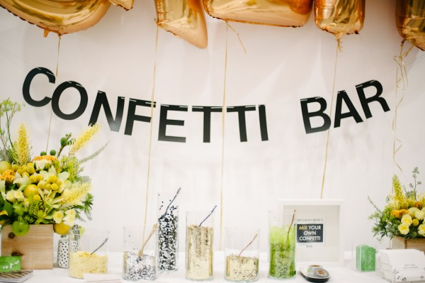 brooklyn bride confetti bar at the cream event nyc