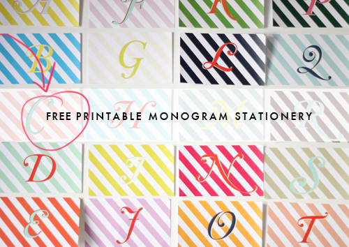 graphic relating to Free Printable Monogram identify Totally free-PRINTABLE-MONOGRAMS - Brooklyn Bride - Progressive Wedding ceremony Website