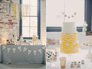 yellow and white wedding cake from lael