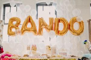 gold bando balloons