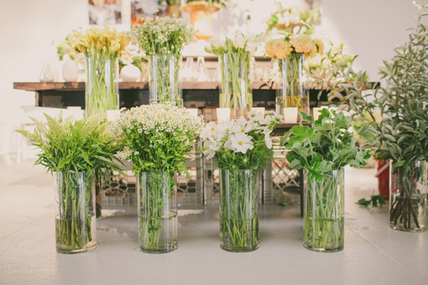 green and white flowers from peartree