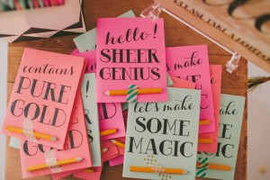 colorful notebooks from glitter & rye