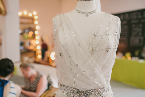 silver embroidered wedding dress