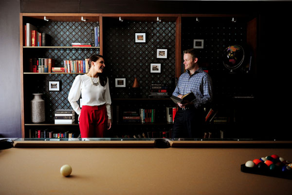 James Hotel Chicago engagement shoot