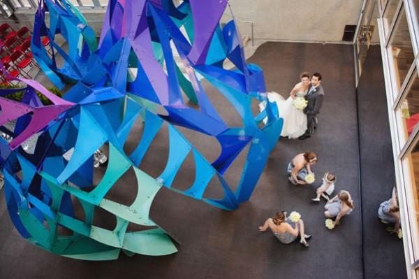 Modern museum wedding inspiration 1