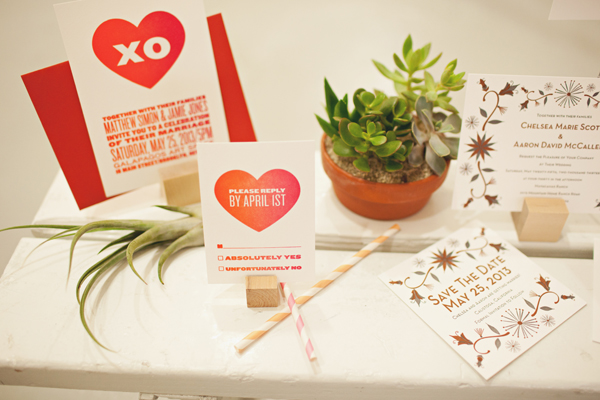 red heart invitations