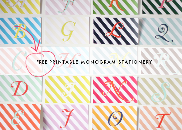 DIY: Printable monogram stationery 9