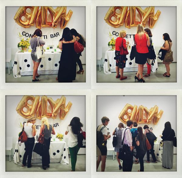 brooklyn bride confetti bar at the cream event nyc