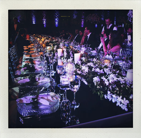 long tables at beirut wedding reception