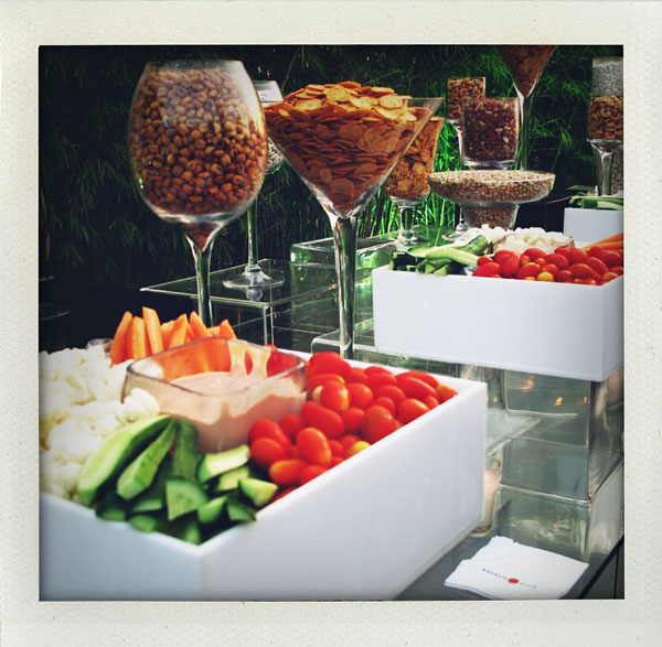 veggies at cocktail hour