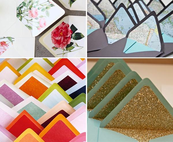 Envelope liner ideas - Brooklyn Bride - Modern Wedding Blog