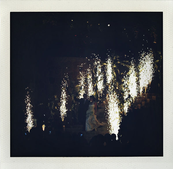 pyrotecnics at beirut wedding reception