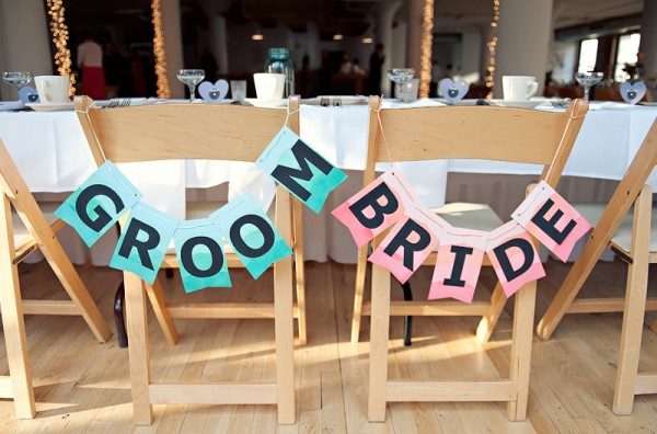 bride & groom chair bunting