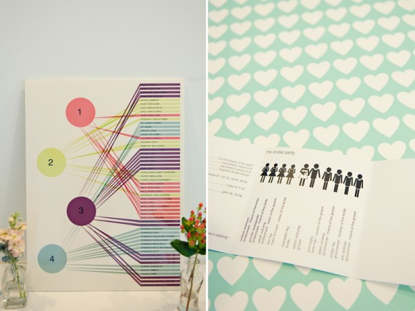 colorful modern seating chart