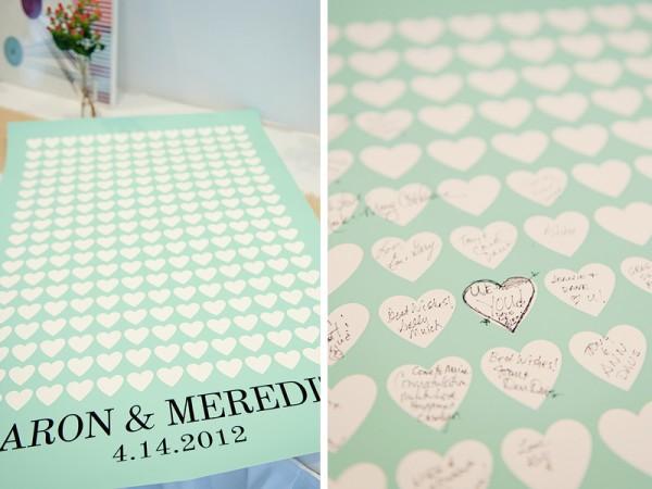 modern mint guest book