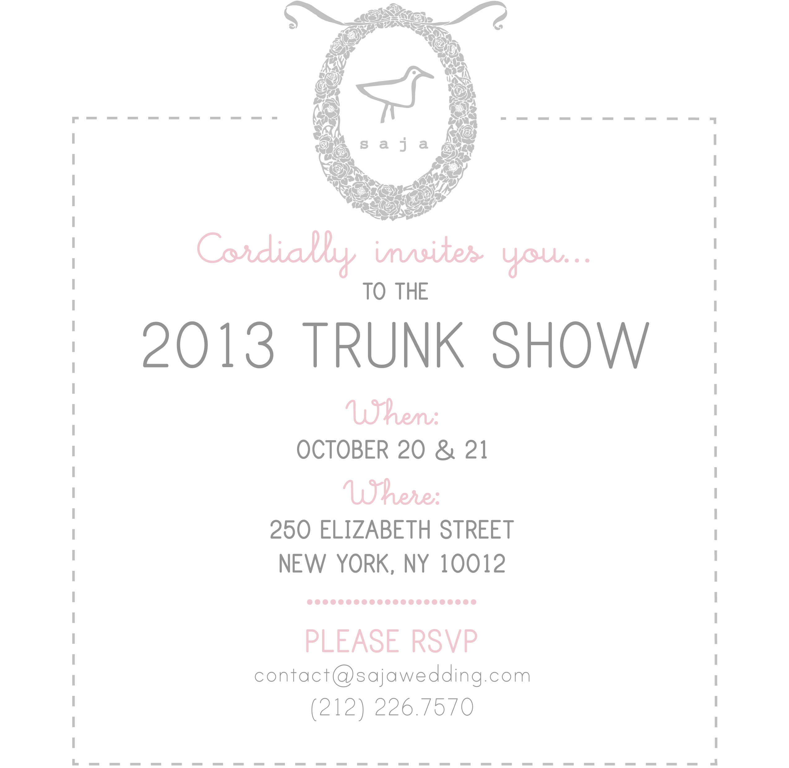 Saja trunk show Brooklyn Bride Modern Wedding Blog