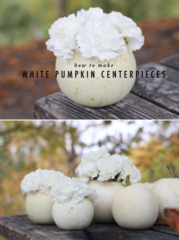 Diy how to make white pumpkin centerpieces brooklyn