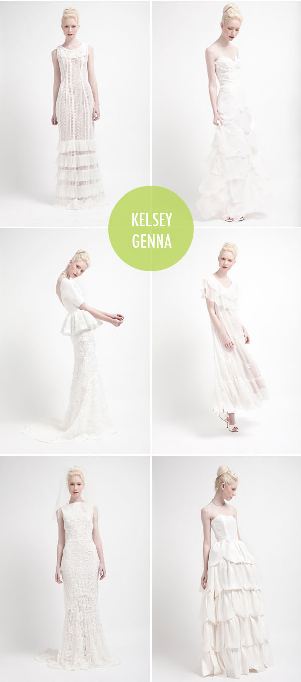 kelsey genna modern wedding dresses
