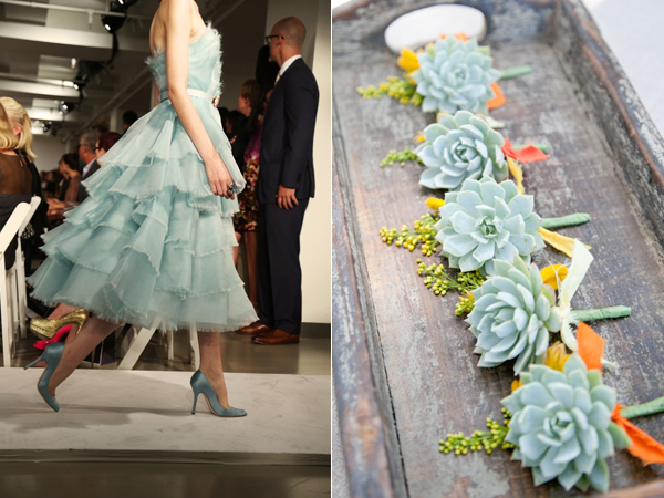 succulent boutonnieres & dress