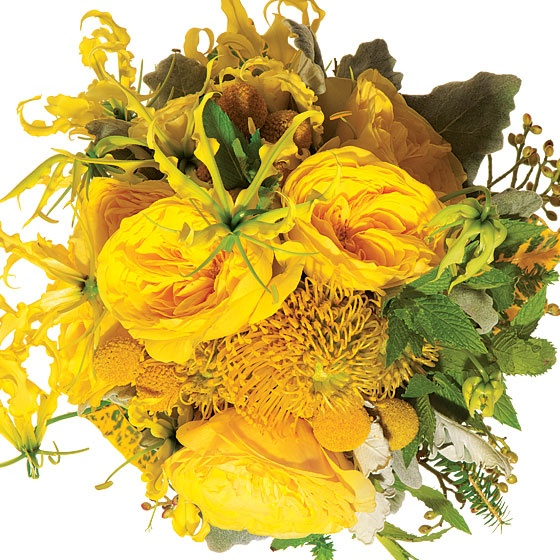 Top 10: Modern yellow bouquets 1
