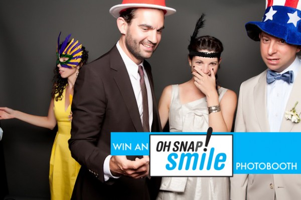 Win a photobooth for your wedding from Oh Snap! Smile 1
