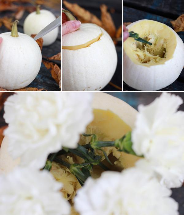 DIY: How to make white pumpkin centerpieces 11