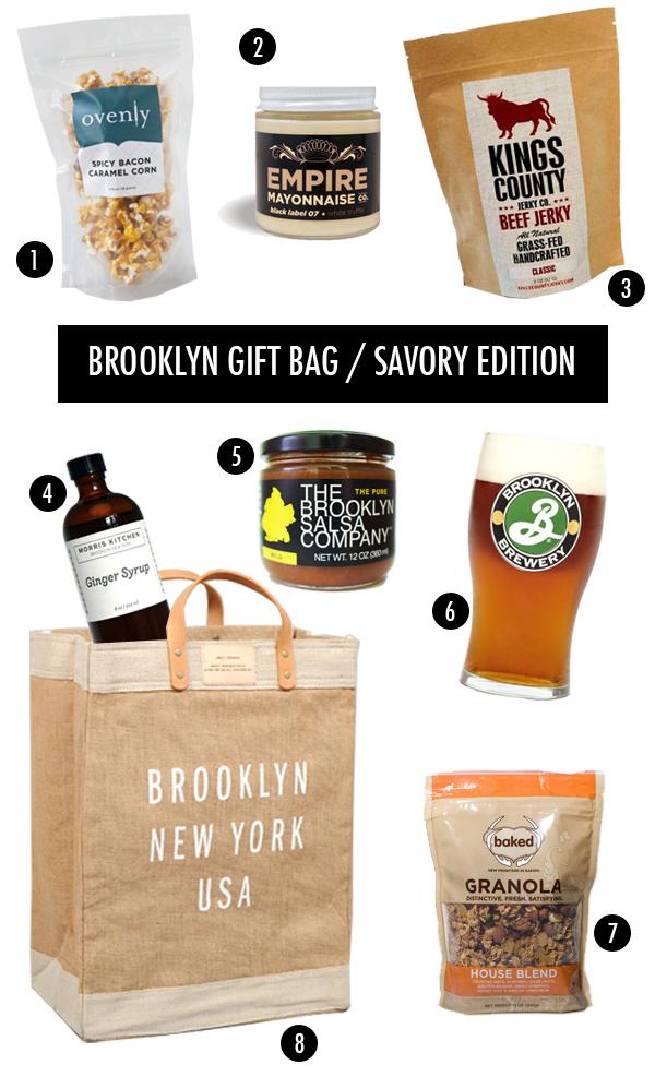 brooklyn themed foodie gift bag