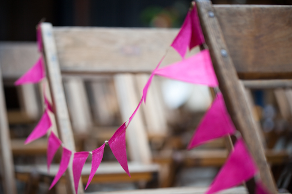 pink ceremony bunting