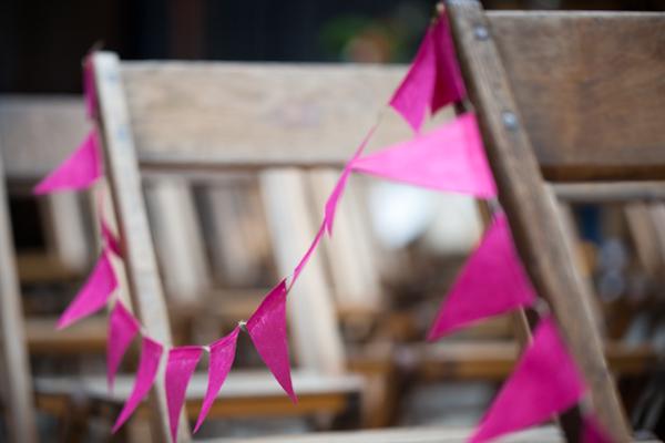 pink ceremony bunting