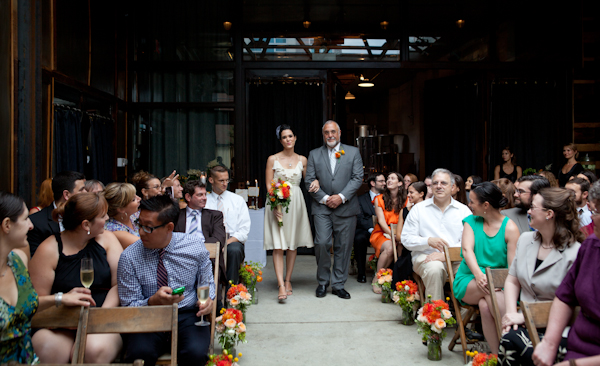 bride & father at brooklyn winery wedding